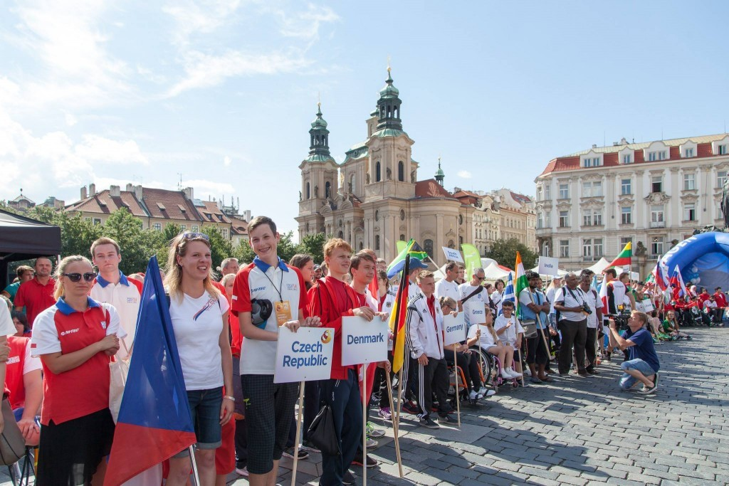 The Parade of Nations took place in the centre of Czech Republic capital Prague officially open the Games ©Facebook/IWAS U23 World Games Prague 2016
